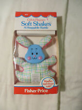 Vintage Fisher Price Soft Shakes Baby Rattle Huggable Bunny Washer Safe 1982 631