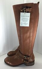 Jessica Simpson Womens Brown Leather Boots Shoe Size 5.5 M