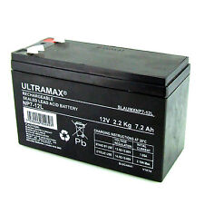 12V 7Ah Sealed Lead Acid Battery HR1234W New VRLA 12 v F2 - 6.4mm Connector