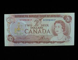 1974 $2 Bank of Canada Banknote BZ 3982817 Lawson Bouey UNC Grade Bill