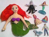 Ariel little mermaid figurine toy lot 7 doll Disney princess vintage Ursula -22