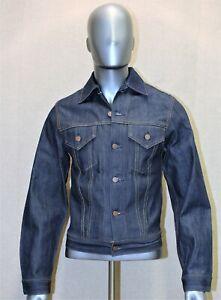 LEVIS raw denim trucker jacket brut vintage 90's neuve rigid 44 FR made in USA