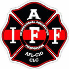 4 Inch Reflective IAFF Thin Red Line Black Maltese Cross Firefighter Sticker