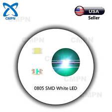 100Pcs 0805 2012 Smd White Led Chip Smt Light Lamp Diodes Emitting Beads Bulds