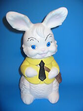 "Vtg Ceramic Boy Bunny Peter?Rabbit 12"" Yard Art Garden Gnome Statue Nice Easter"