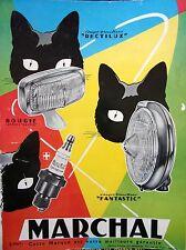 publicité de presse  ACCESSOIRES AUTOMOBILE  MARCHAL   en   1966   ref. 22542