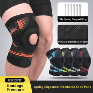 Knee Support Pads Silicone Spring Knitted Sports Support Brace Patella Protector