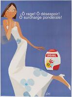 Affiche originale - Kiraz - Canderel - Rage - Desespoir - Parisiennes - v. 1990