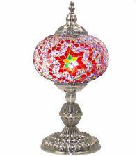 Turkish Handmade Mosaic Desk Lamp Night Lamp Lampshade Metal Body Rainbow Lamp