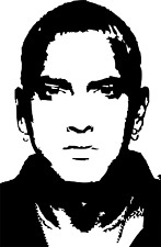 Eminem decal wall art, Furniture, Glass, Windows sticker