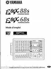 Yamaha EMX88S EMX68S Powered Mixer Manual FRENCH Mode d'emploi