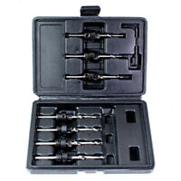DRILL & COUNTERSINK IN ONE 7Pc BIT SET CASE 5,6,7,8,9,10,12mm Hard / Soft Wood