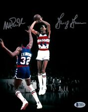 Magic Johnson George Gervin Dual Signed Autographed 8X10 Photo All-Star Beckett
