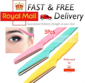 3 x Women Eyebrow Razor Trimmer Blade Removal Tool Shaver Face Lip Hair Remover