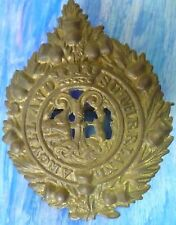 Badge- WW1 Argyll And Sutherland Highlanders Glengarry Cap Badge (BRASS) RARE*