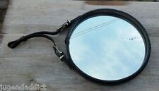 ANTIQUE LARGE LEATHER MIRROR BY JACQUES ADNET FRANCE