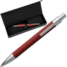 HUGO BOSS Ballpoint - SAFFIANO Red - Pen Red Synthetic - incl. Gift Box