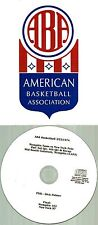 Original ABA Radio Broadcast on CD - Memphis Tams vs New York Nets (1974)