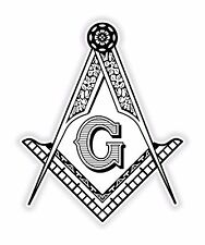 Masonic Sticker Freemason for Bumper Religious Car Locker Fridge Book Door #02