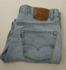 Mens Vintage Levis 505 High Waist Light Wash Jeans USA Size 40 *Read