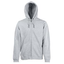 Fruit of The Loom Classic 80/20 Hooded Sweatshirt Jacket (ss222) Heather Grey S