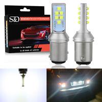 2x White LED 1157 BAY15D 12SMD 3535 2800Lm P21/5W Car Reverse Tail Light Bulbs