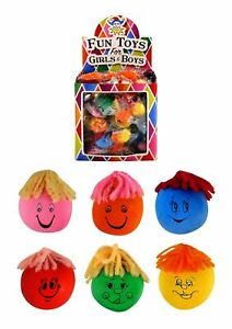 3 xMini 3cm Squeezy Moody Face Moulding Stress Ball Party Loot Bag Filler Favour