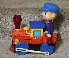 1960s Vintage MODERN TOYS Tin Litho Toy Locomotive 3681 Battery Operated