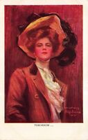 Philip Boileau artwork Postcard Beautiful Woman Feathered Hat, Tomorrow~116975