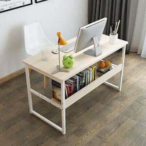 120 Home Computer Office PC Desk Writing Table Workstation Wood Bookshelf Corner