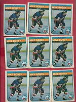9 X  1982-83 OPC # 199 NY ISLANDERS MIKE BOSSY  CARD