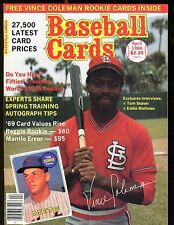 Baseball Cards Magazine April 1986 Vince Coleman w/Mint Cards jhscd3