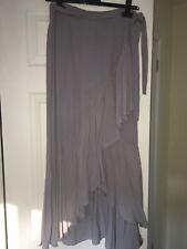 Ladies H&M Grey Wrap Skirt Uk12 Eur38