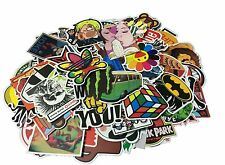 Cool Sticker 100pcs Random Music, Skateboard, Guitar, Travel bag,Laptop,Car,Bike
