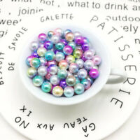 100PCS DIY Beads Imitation Pearl Jewelry Nonporous Colored Imitation Pearl ABS