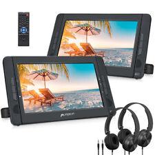 "2x10.1""Car Headrest TV Monitor Portable DVD Player LCD Screen HDMI USB+Headphone"