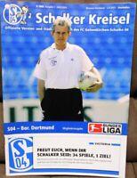 FC Schalke 04 Schalker Kreisel Magazin 02.08.2003 Bundesliga Derby Dortmund /379