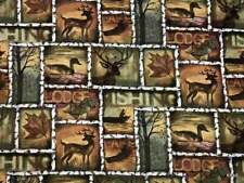 Deer Duck Hunting Fishing Cabin Lodge Nature Wildlife Woodland Curtain Valance