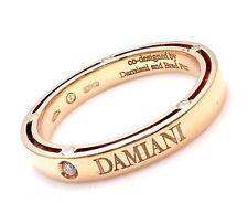 Authentic Damiani Brad Pitt 18k Yellow Gold Diamond 3mm Band Ring Sz 5.75