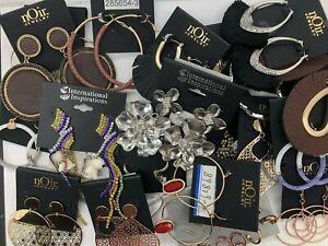 Resellers Lot of 20 Dangle Earrings Designer Rhinestones Modern nOir Jewelry NEW