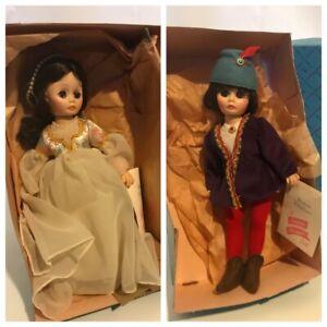 "Vintage Madame Alexander Romeo and Juliet 12"" Dolls"
