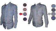 Camicia Uomo Celeste Bianca Blu Nera Manica Lunga Cotone TG  m l xl xxl