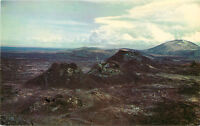 Chrome ID Postcard C503 Spatter Cones Craters of the Moon National Park Idaho