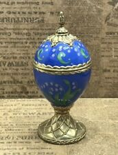 """House of Faberge Musical Eggs """"Lily of the Valley""""dance of the sugar plum fairy"""
