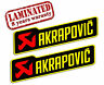 2 Autocollants Sticker Auto Moto Akrapovic Echappement Race Exhaust Sponsor Z 9