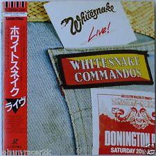 WHITESNAKE Laserdisc Commandos Live Concert Donington JAPAN LD OBI