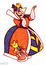 New listing Disney alice wonderland iron on fabric applique queen not embroidered 3 inch