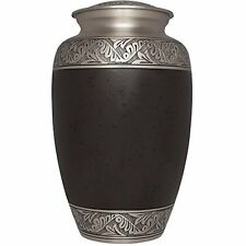 ADULT BROWN CREMATION URNS, LARGE NEW FUNERAL URN FOR HUMAN ASHES,