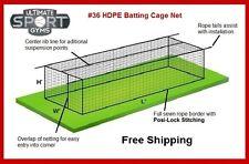 12' x 12' x 70' #36 (54 ply) Baseball Softball Batting Cage Net w/Door