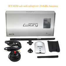 Alfa Luxury AWUS036H Wireless USB Adapter 150Mbps RT3070L with 8dBi+2dBi Antenna